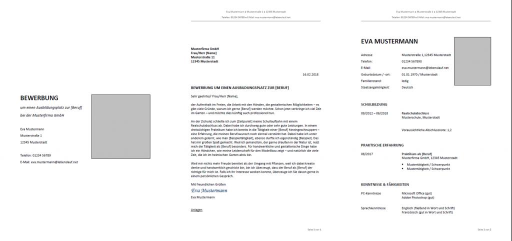 vorlage muster bewerbung ausbildung - Bewerbungs Vorlagen