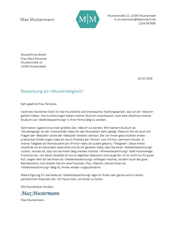 Bewerbungsschreiben Professionelle Vorlagen Muster 2019