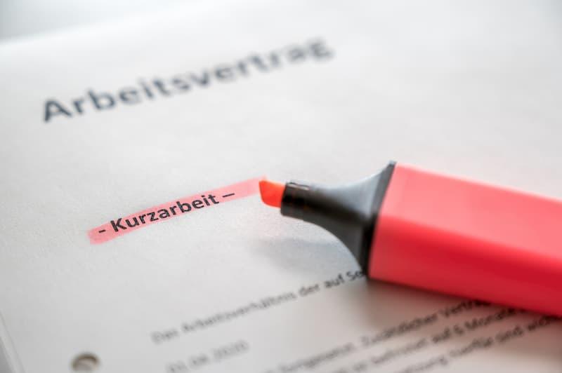 Der Abschnitt Kurzarbeit im Arbeitsvertrag